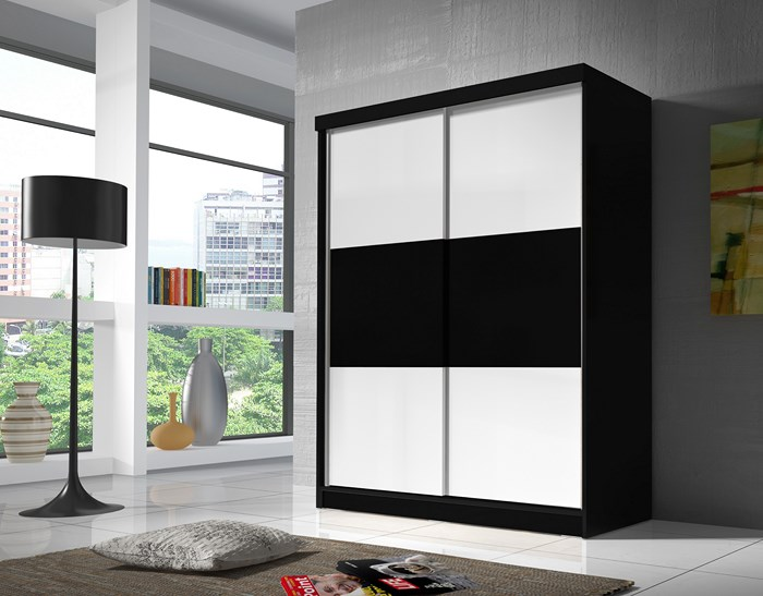 bono kleiderschrank 3 farben schwebet renschrank breite 160 cm vom hersteller ebay. Black Bedroom Furniture Sets. Home Design Ideas
